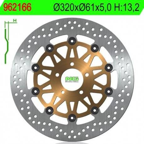 BRAKE DISC NG MEASURES 320 X 61 X 5
