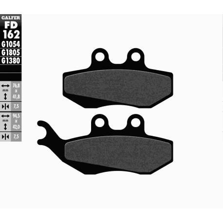 BRAKE PAD SET GALFER FD162-G1054