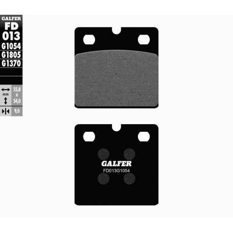 BRAKE PAD SET GALFER FD013-G1054