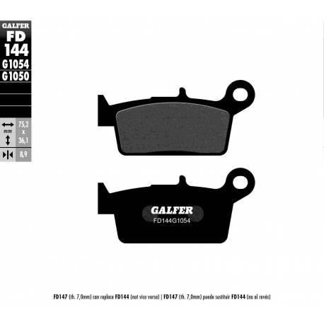 BRAKE PAD SET GALFER FD144-G1054