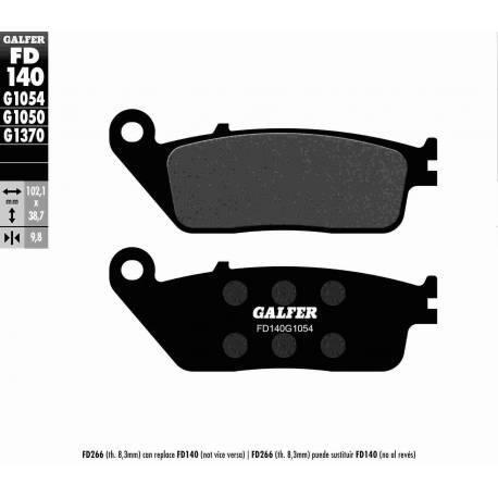 BRAKE PAD SET GALFER FD140-G1054