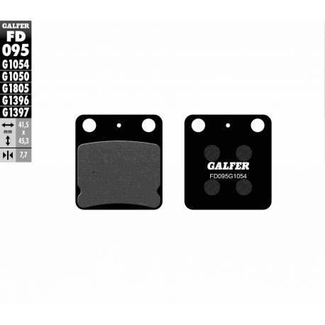 BRAKE PAD SET GALFER FD095-G1054