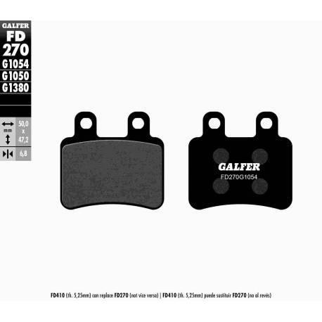 BRAKE PAD SET GALFER FD270-G1054