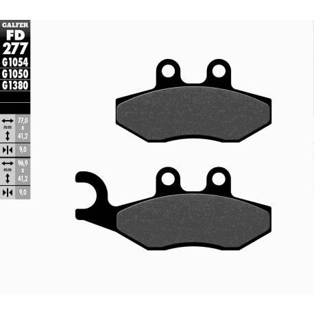 BRAKE PAD SET GALFER FD200-G1054