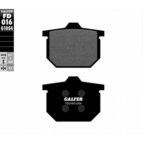 BRAKE PAD SET GALFER FD016-G1054
