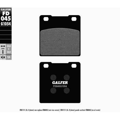BRAKE PAD SET GALFER FD045-G1054