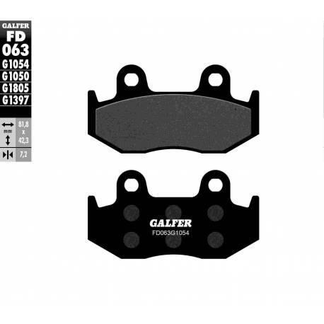 BRAKE PAD SET GALFER FD063-G1054