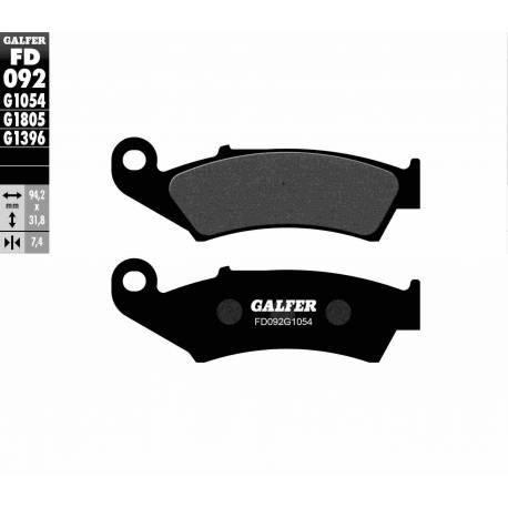 BRAKE PAD SET GALFER FD092-G1054