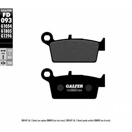BRAKE PAD SET GALFER FD093-G1054