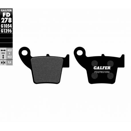 BRAKE PAD SET GALFER FD278-G1054