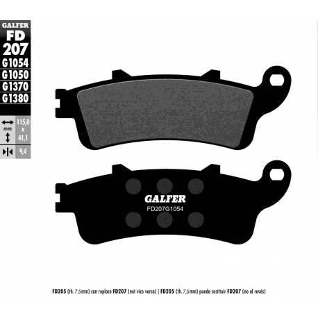 BRAKE PAD SET GALFER FD207-G1054