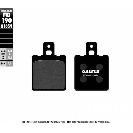 BRAKE PAD SET GALFER FD190-G1054