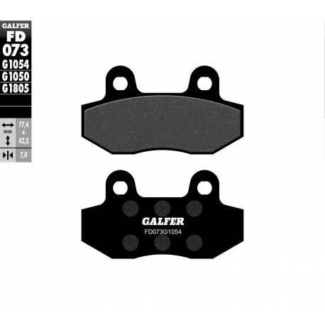 BRAKE PAD SET GALFER FD073-G1054