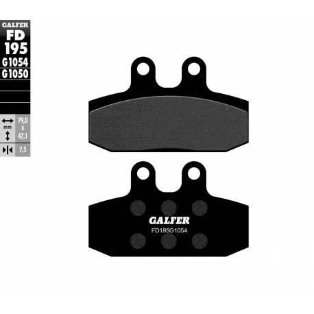BRAKE PAD SET GALFER FD195-G1054