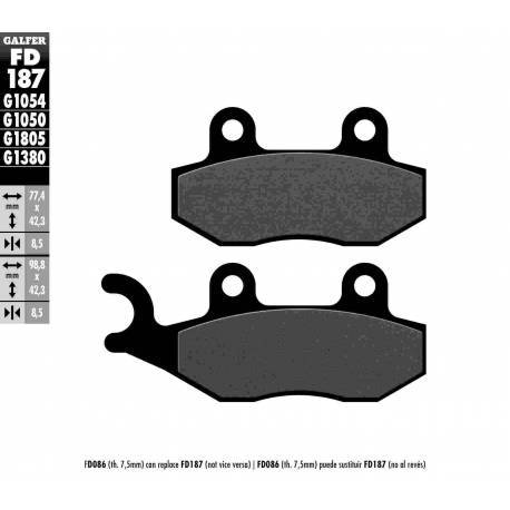 BRAKE PAD SET GALFER FD187-G1054