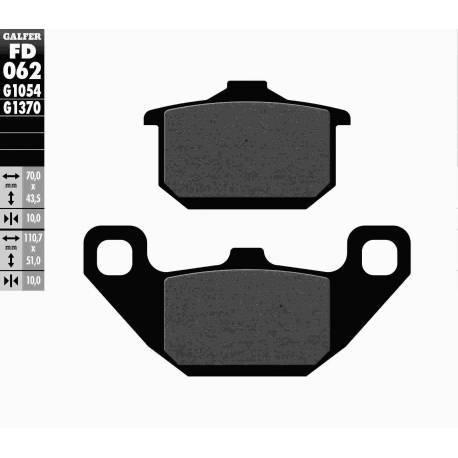 BRAKE PAD SET GALFER FD062-G1054