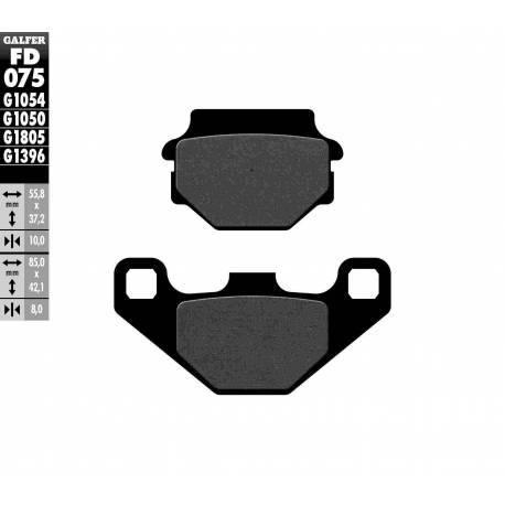 BRAKE PAD SET GALFER FD075-G1054