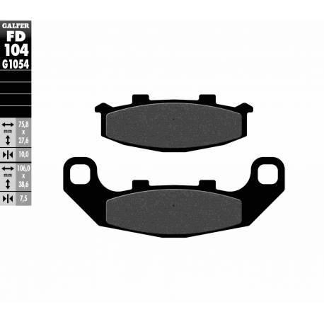 BRAKE PAD SET GALFER FD104-G1054