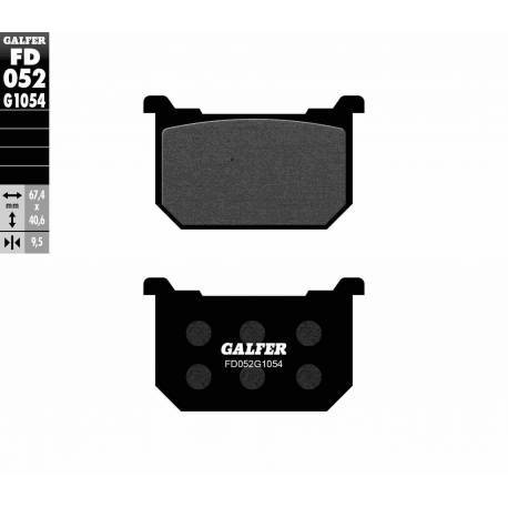 BRAKE PAD SET GALFER FD052-G1054