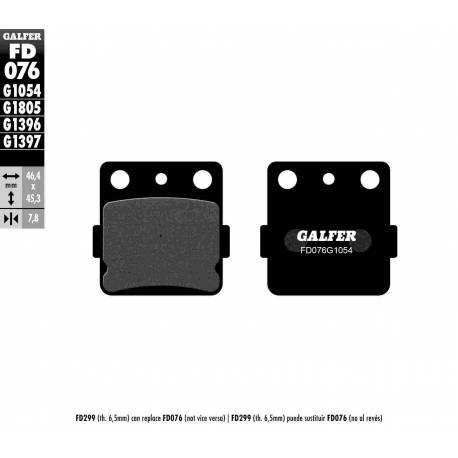 BRAKE PAD SET GALFER FD076-G1054