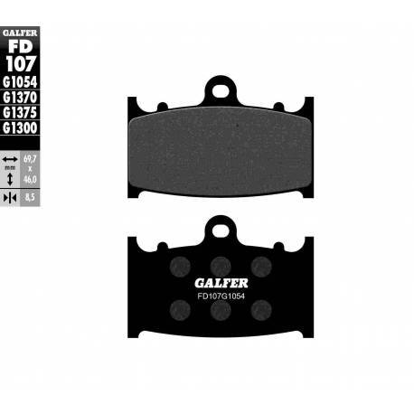 BRAKE PAD SET GALFER FD107-G1054