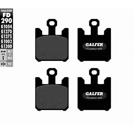 BRAKE PAD SET GALFER FD290-G1054