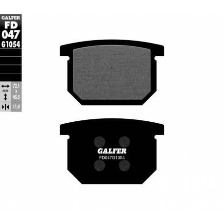 BRAKE PAD SET GALFER FD047-G1054