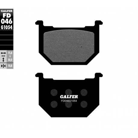 BRAKE PAD SET GALFER FD046-G1054