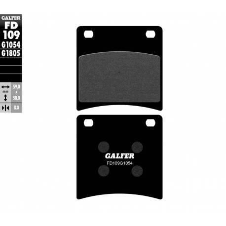 BRAKE PAD SET GALFER FD109-G1054
