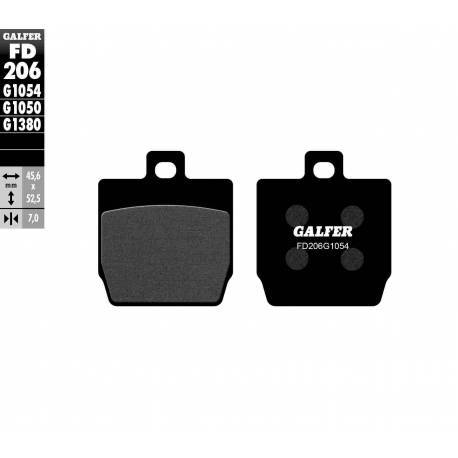 BRAKE PAD SET GALFER FD206-G1054