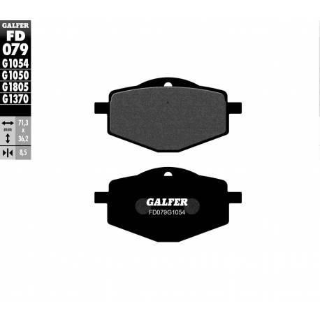 BRAKE PAD SET GALFER FD079-G1054