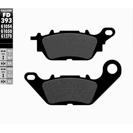 BRAKE PAD SET GALFER FD393-G1054