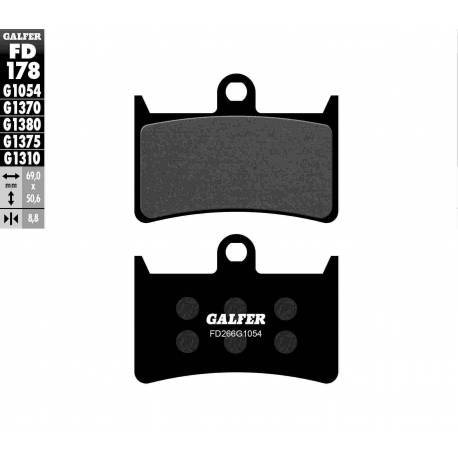 BRAKE PAD SET GALFER FD178-G1054