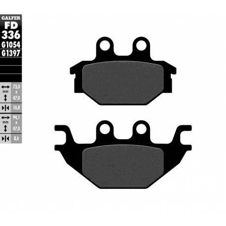BRAKE PAD SET GALFER FD336-G1054
