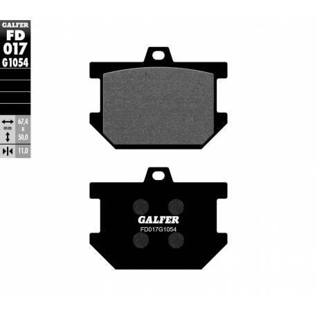 BRAKE PAD SET GALFER FD017-G1054