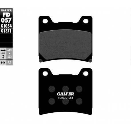 BRAKE PAD SET GALFER FD057-G1054