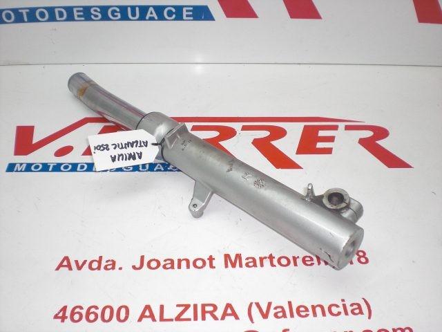 BARRA HORQUILLA DELANTERA DERECHA (DOBLADA) PARA DESPIECE de repuesto de una moto APRILIA ATLANTIC 250 2008