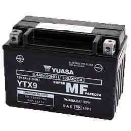 Bateria para moto o ciclomotor marca YUASA modelo YTX9-BS de 12v 8Ah