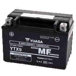 Battery for scooter or moped brand YUASA model BSDE YTX9-12v 8AH.