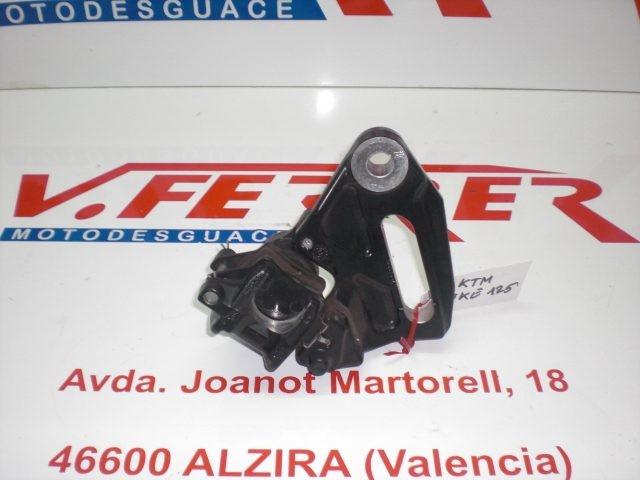 PINZA FRENO TRASERA CON SOPORTE de repuesto de una moto KTM DUKE 125 2011