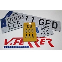 License plates for motorcycles